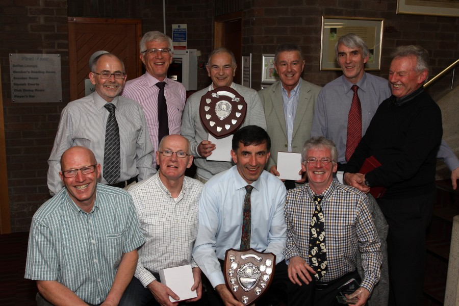 The Mens Over 55 and Over 65 Winning Teams